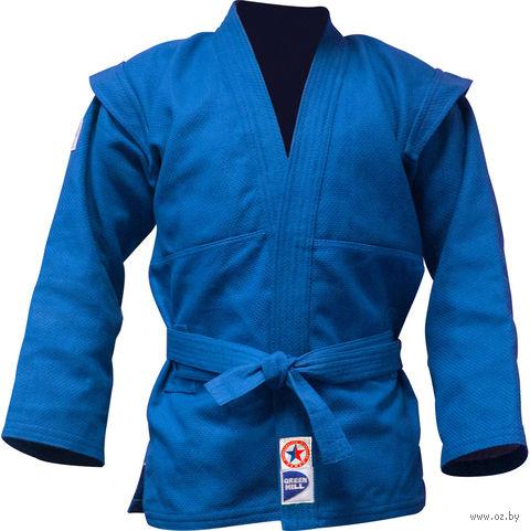 Куртка для самбо JS-303 (р. 6/190; синяя) — фото, картинка