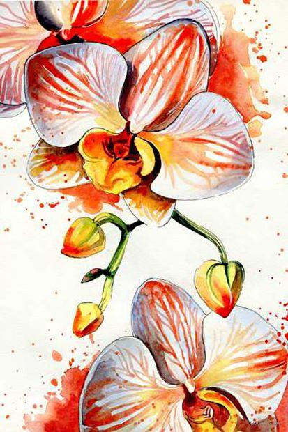 """Объемная аппликация """"Дикая орхидея"""" — фото, картинка"""