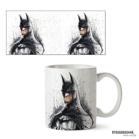 """Кружка """"Бэтмен из вселенной DC"""" (белая; арт. 446) — фото, картинка"""