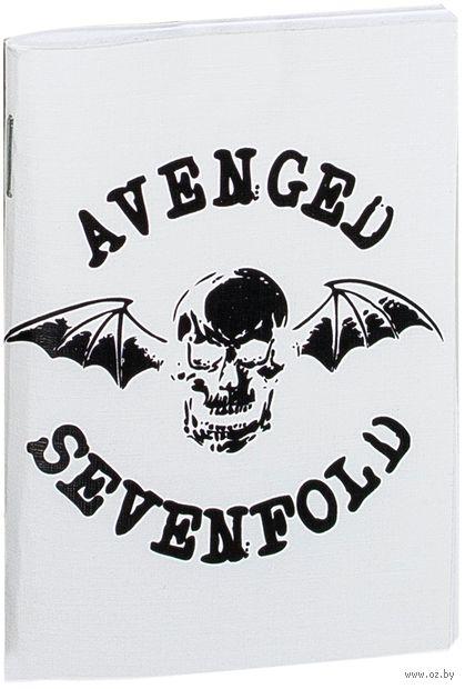 "Блокнот белый ""Avenged Sevenfold"" А7 (арт. 043)"
