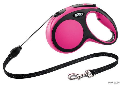 """Поводок-рулетка для собак """"New Comfort"""" (размер M; до 20 кг; розовый)"""