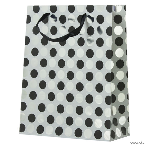 "Пакет бумажный подарочный ""Круги"" (32х26х10 см; арт. DV-1704B) — фото, картинка"
