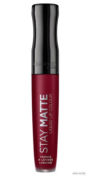 """Жидкая помада для губ водостойкая """"Stay Matte Liquid Lip Colour"""" тон: 810, Plum This Show — фото, картинка"""