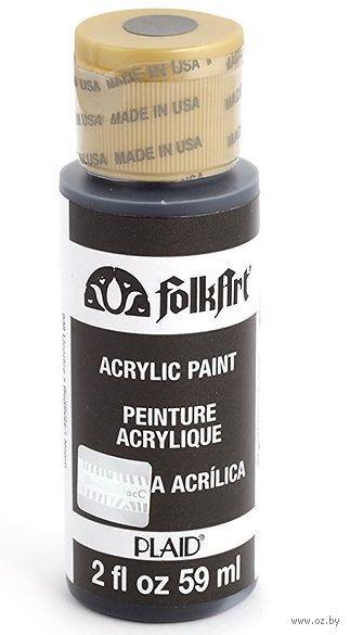 """Краска акриловая """"FolkArt. Acrylic Paint"""" (лакричный черный, 59 мл; арт. PLD-00938)"""