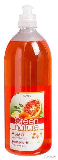 "Жидкое мыло ""Грейпфрут и Бергамот"" (1 л) — фото, картинка"