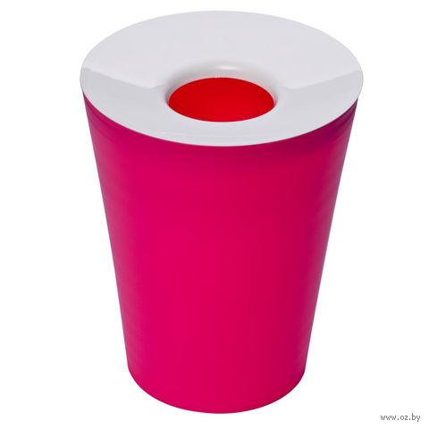 "Корзина для мусора круглая ""Hole"" (фуксия)"