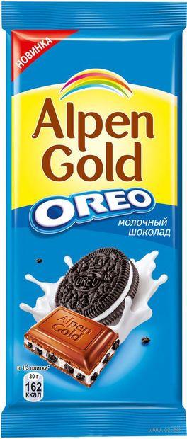 "Шоколад молочный ""Alpen Gold. Oreo"" (90 г) — фото, картинка"
