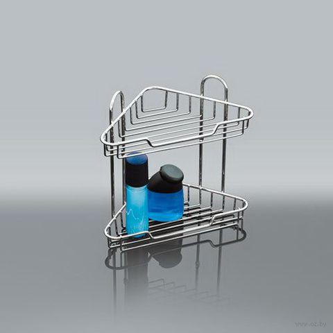 Полка для ванной металлическая 2-ярусная (33х20,5х14 см)