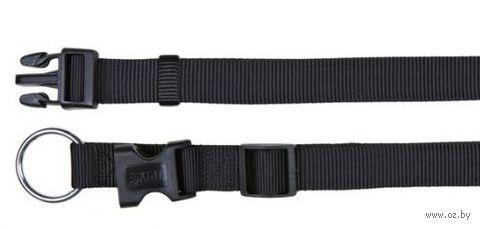 """Ошейник нейлоновый для собак """"Classic"""" (размер M-L, 35-55 см, черный, арт. 14221)"""