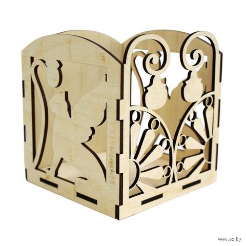 "Заготовка деревянная ""Коробочка для бумажек. Грифоны"" (110х110х110 мм)"