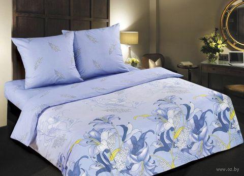 """Постельное белье """"Дикая орхидея. Синяя"""" (семейное) — фото, картинка"""