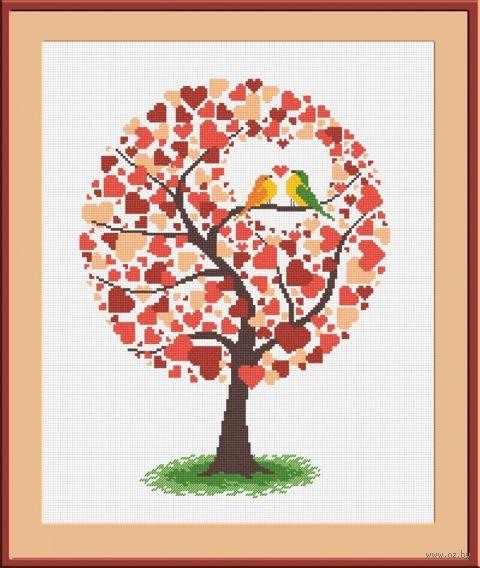 """Вышивка крестом """"Дерево любви"""" (240х280 мм) — фото, картинка"""