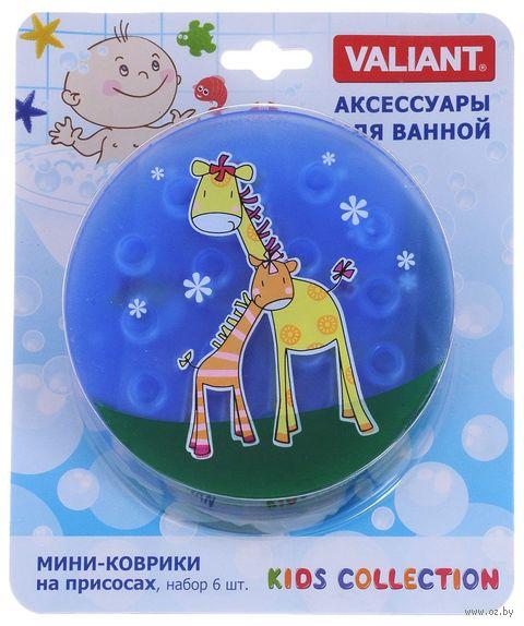 """Коврик для ванночки """"Жирафы"""" (6 шт.) — фото, картинка"""