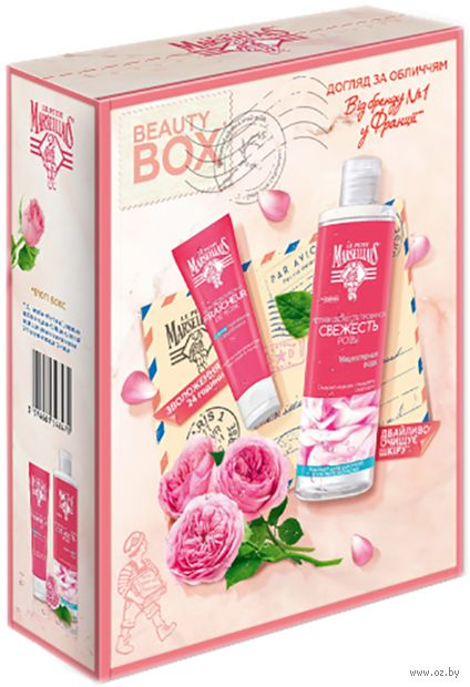 """Подарочный набор """"Свежесть розы"""" (крем для лица, мицеллярная вода) — фото, картинка"""