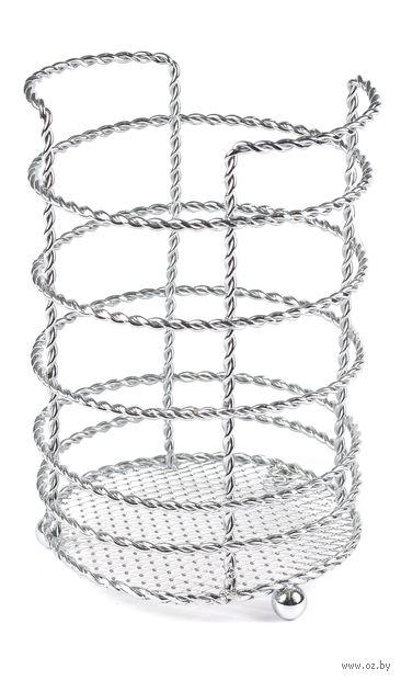 Подставка для столовых приборов металлическая (120х120х90 мм)