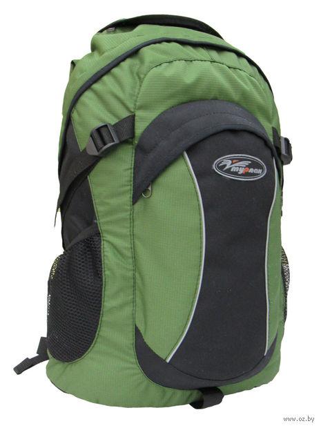 "Рюкзак ""Томас-25"" (25 л; чёрно-зелёный) — фото, картинка"