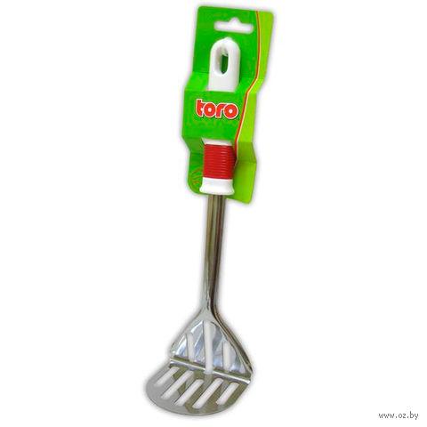 Мялка для картофеля металлическая с пластмассовой ручкой (280 мм)