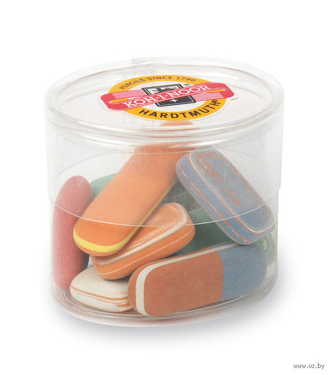 """Набор ластиков """"6510"""" в пластиковой упаковке (цвет: ассорти)"""