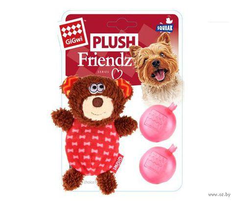 """Игрушка для собак """"Медведь"""" с двумя сменными пищалками (13 см) — фото, картинка"""