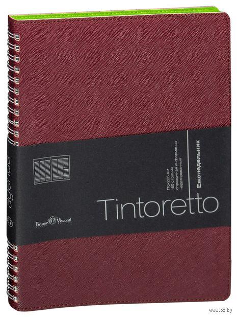 """Еженедельник недатированный """"Tintoretto"""" (B5; бордовый) — фото, картинка"""