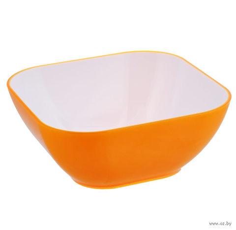 Миска пластмассовая (1,2 л; оранжевая) — фото, картинка