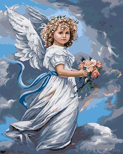 "Картина по номерам ""Ангел с букетом"" (400х500 мм; арт. PC4050195) — фото, картинка"