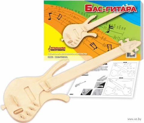 """Сборная деревянная модель """"Бас-гитара"""" — фото, картинка"""