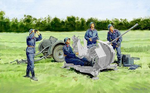 "Зенитное орудие ""2cm Flak Crew w/Sd.Ah.51"" (масшаб: 1/35) — фото, картинка"