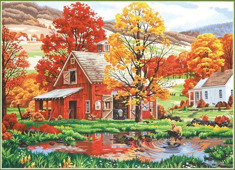 """Картина по номерам """"Друзья осени"""" (510х360 мм; арт. DMS-73-91475)"""