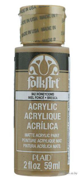 """Краска акриловая """"FolkArt. Acrylic Paint"""" (медовые соты; 59 мл; арт. PLD-00942) — фото, картинка"""