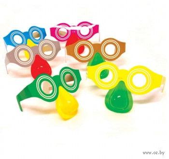 Набор карнавальных очков с носом (6 шт.) — фото, картинка