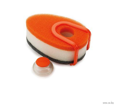 """Набор губок с капсулой для моющего средства """"Soapy Sponge"""" (5 предметов; оранжевый) — фото, картинка"""
