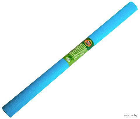 Бумага креповая цветная (50х200 см; темно-голубая) — фото, картинка