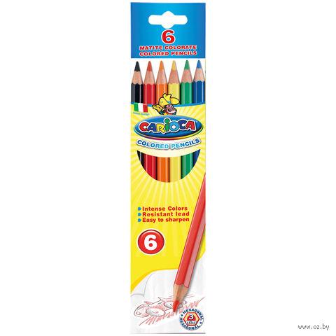 """Цветные карандаши """"Carioca"""" (6 цветов)"""