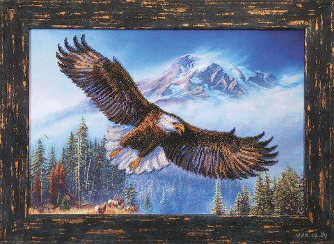 """Вышивка бисером """"Орел в горах"""""""