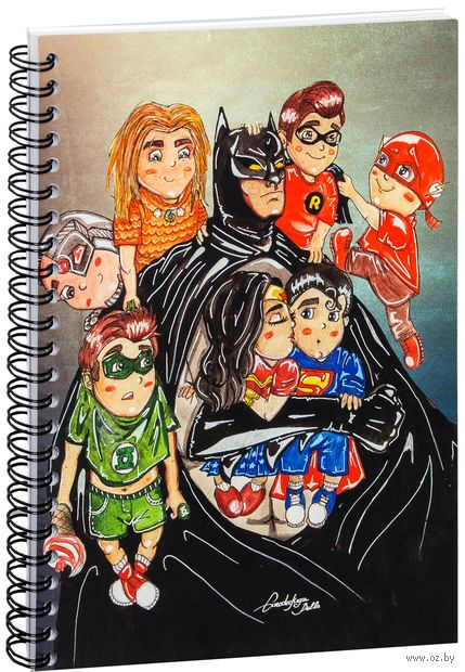 "Блокнот в клетку ""DC Comics"" A5 (1236)"