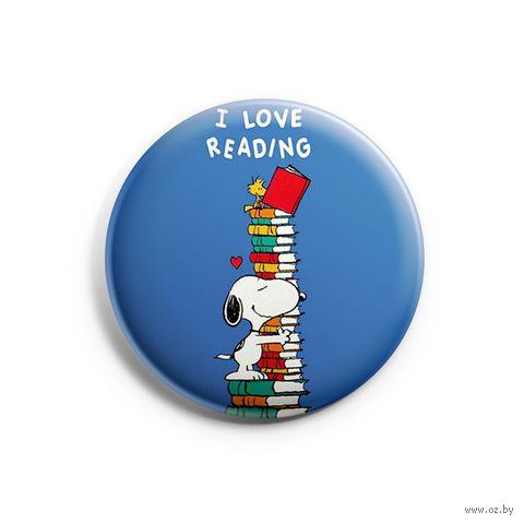 "Значок маленький ""Love reading"" (арт. 864) — фото, картинка"