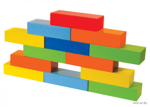 """Кубики """"Кирпичи"""" (18 шт.; арт. НКЧ1801) — фото, картинка"""