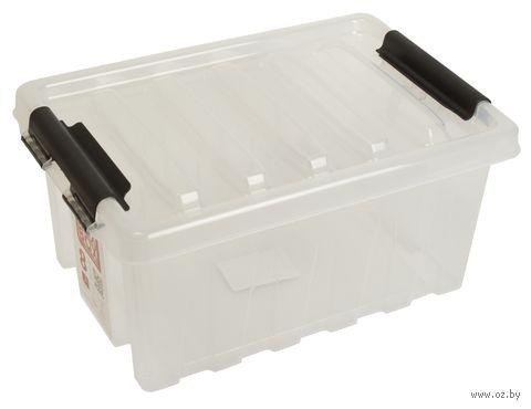 Ящик для хранения с крышкой (8 л; прозрачный) — фото, картинка