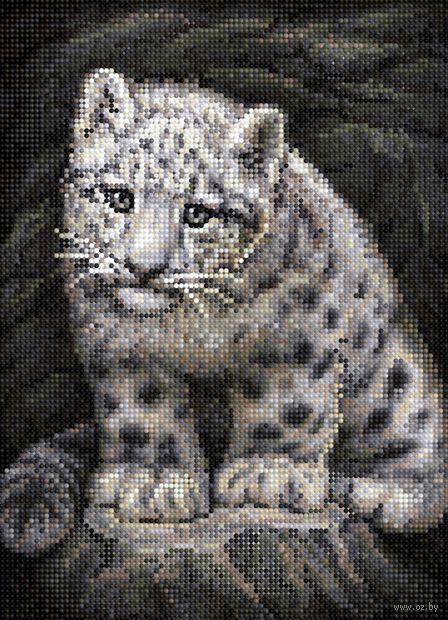 """Алмазная вышивка-мозаика """"Детёныш барса"""" (360х260 мм) — фото, картинка"""