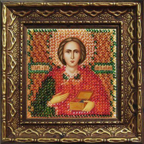 "Вышивка бисером ""Св. Целитель Пантелеймон"" (65х65 мм; арт. 2022дПИ) — фото, картинка"