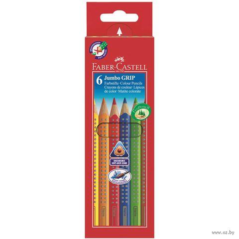 """Набор карандашей цветных """"Jumbo Grip"""" (6 цветов) — фото, картинка"""