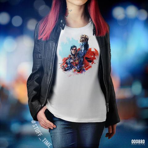 """Футболка женская """"Супермен"""" XS (880)"""