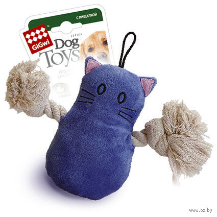 """Игрушка для собак """"Кот"""" (15 см) — фото, картинка"""