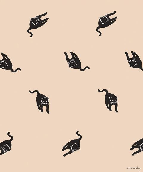 """Простыня хлопковая на резинке """"Cats"""" (180х200 см) — фото, картинка"""