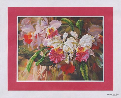 "Вышивка бисером ""Орхидеи"" (390х290 мм) — фото, картинка"