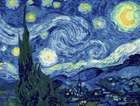 """Вышивка крестом """"Ван Гог. Звездная ночь"""" (300х390) — фото, картинка"""