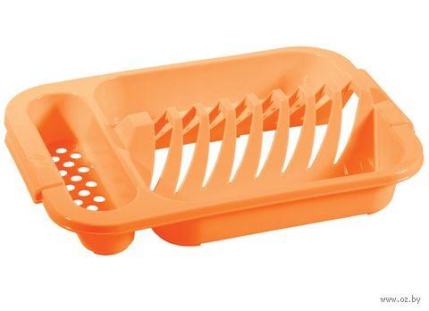 Сушилка для посуды пластмассовая (345x240x72 мм) — фото, картинка