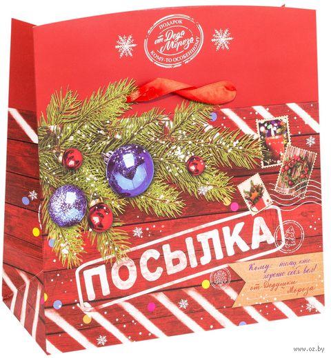 "Подарочная коробка ""Новогодняя посылка"" (арт. 25591111) — фото, картинка"