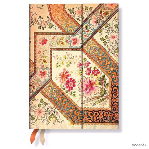 """Записная книжка Paperblanks """"Филигранный цветочный рисунок"""" в линейку (130х180 мм; слоновая кость)"""